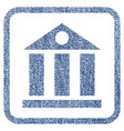 bank building fabric textured icon vector image