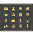 Business career icons set vector image