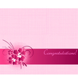 Congratulation card vector image