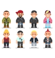 different subcultures man in trendy flat style vector image