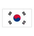 flag of republic korea vector image