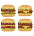 hamburgers vector image