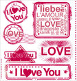 I love you stamps vector image