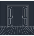open doors line icon for web vector image