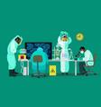 scientists are working with bio hazardous vector image