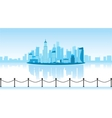 a city with reflection vector image vector image