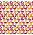 Valentine seamless pattern of glossy bows vector image