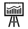 Flipchart with marketing data icon simple style vector image