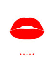 lipstick or lips it is icon vector image