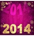 Golden-purple Christmas frame vector image vector image