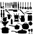 Kitchen tools Silhouette vector image vector image