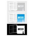 paper windows vector image vector image