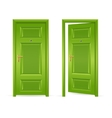 Green Door Open and Closed vector image