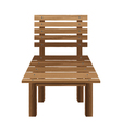 Wooden chairs on a white background Wooden vector image