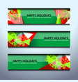 christmas new year banners vector image