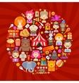 circus logo design template fun fair or vector image