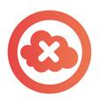 Color circular emblem with disable cloud service vector image