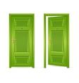 Green Door Open and Closed vector image