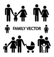 happy family logos isolated on white background vector image