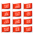 Laundry symbols on clothing labels vector image