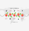 modern infographic timeline constructor for eco vector image