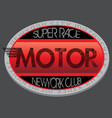 motorcycle club new york racing motorcycle vector image