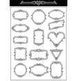 set of decorative vintage frames vector image