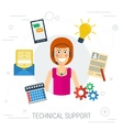 Technical support flat vector image