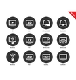 TV icons on white background vector image