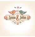 wedding vintage badge in retro design with the vector image