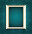 picture frame on vintage wallpaper 0508 vector image vector image
