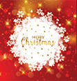 Decorative Christmas snowflake background vector image vector image