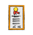 isolated diploma certificate vector image