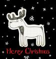 Christmas Elk vector image vector image