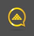 gold bars icon vector image