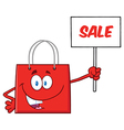 Red Shopping Bag Cartoon vector image