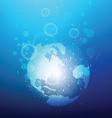 world sinking vector image