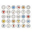 Active sport games color icons set vector image