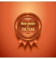 Bronze Glossy Badge vector image