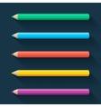 Flat pencils vector image