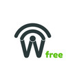 free wifi logo design template vector image