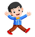 friendly young man in casual clothes vector image