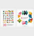 paper geometric banner templates vector image
