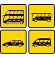 yellow passenger transport icon vector image