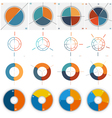 Templates for Infographics set 2 3 4 5 vector image