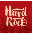 hard rock inscription vector image