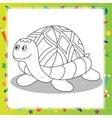 Cartoon turtle - Coloring book vector image