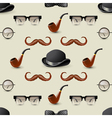 retro seamless with mustaches2 vector image