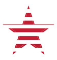 isolated red star vector image