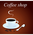 background with a mug of coffee vector image vector image